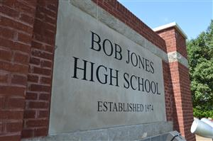 Bob Jones High School marquee